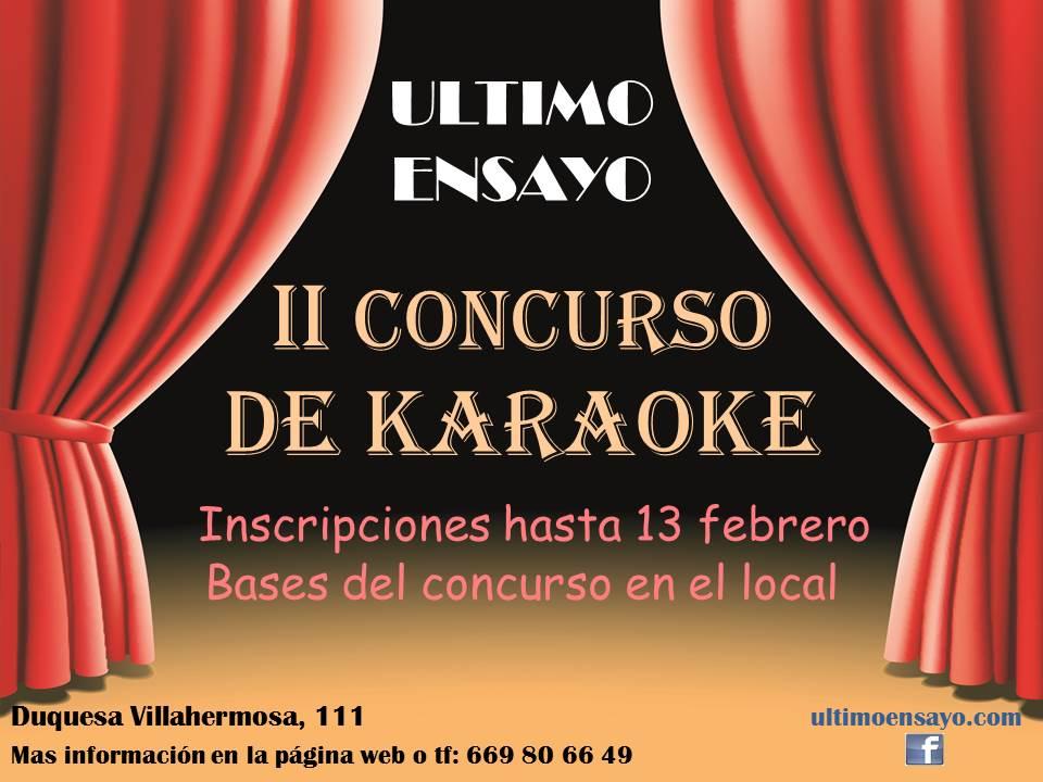 II Concurso de Karaoke Último Ensayo